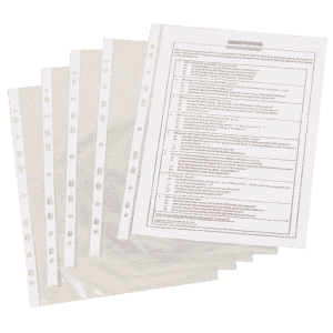 Q-Connect Punched Pockets Polypropylene 50 Micron A4 Clear (Pack of 100)