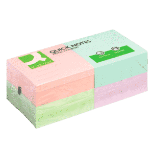Q-Connect Quick Notes 76 x 76mm Pastel (Pack of 12)