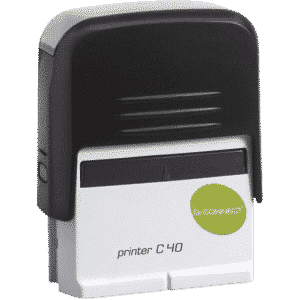 Q-Connect Voucher for Custom Self-Inking Stamp 57 x 20mm