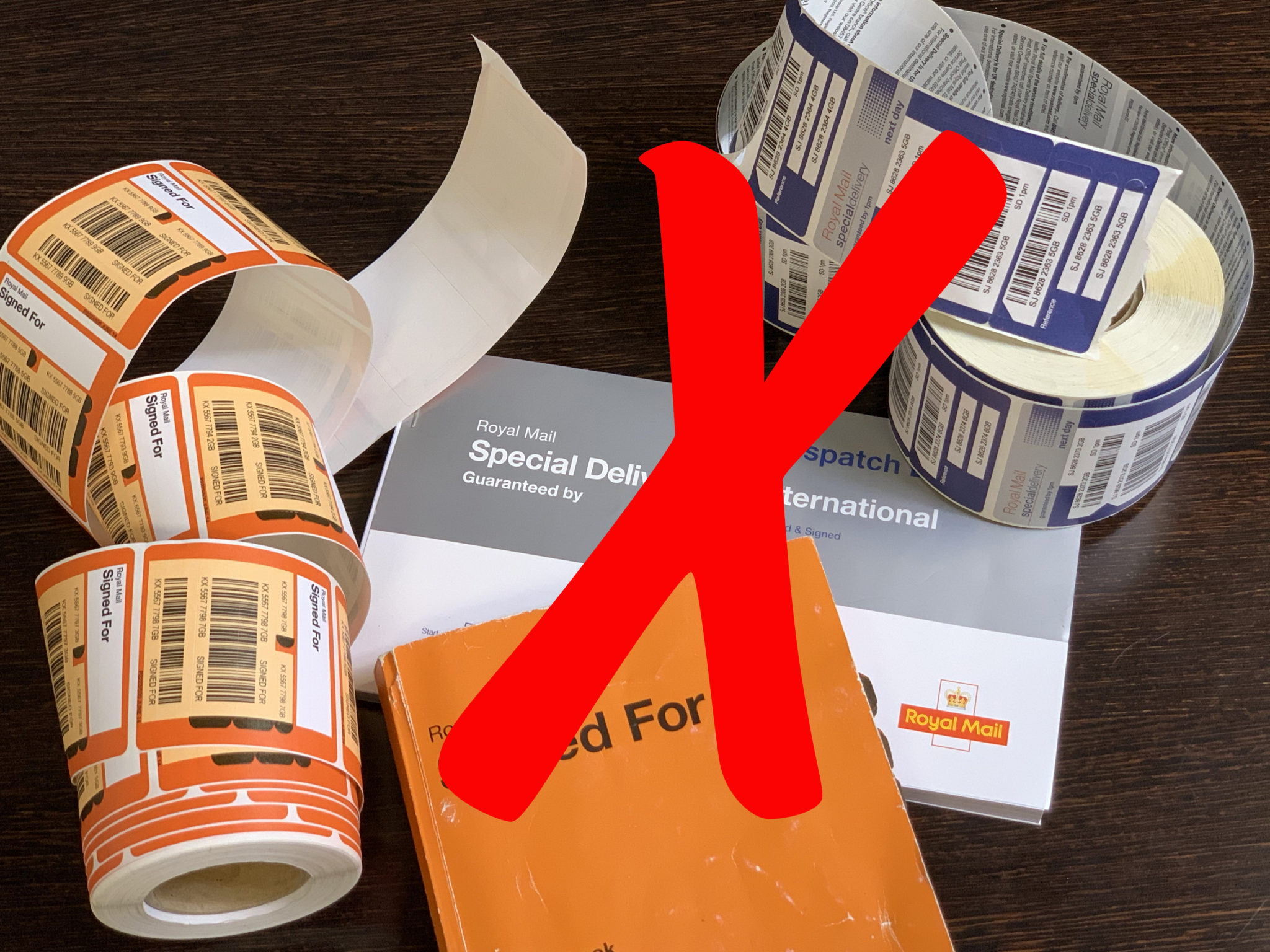 No more Special and Signed For barcode labels and books required