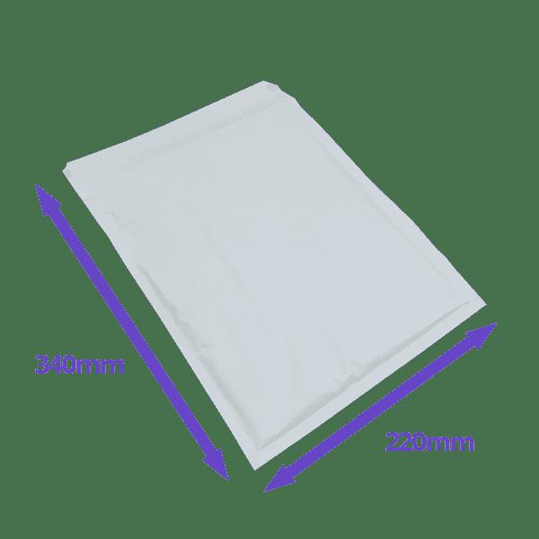 White Arofol Envelopes - Size 6 - 220x340mm - Pack Of 100