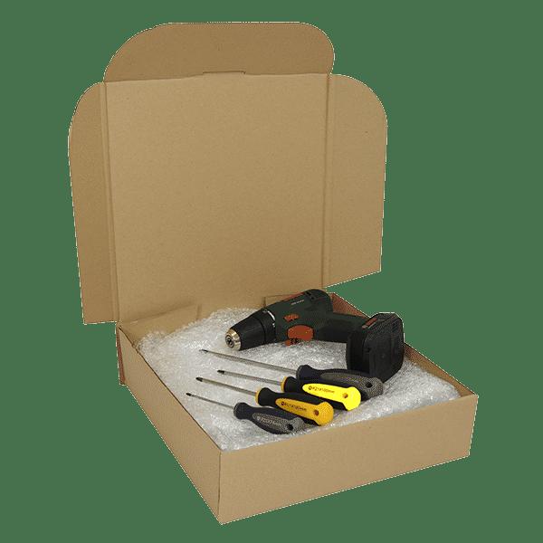 Brown PiP Small Parcel Cake Box - 254x254x102mm