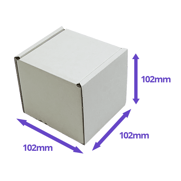 White PiP Small Parcel Postal Box - 102x102x102mm - Packs of 10, 25 & 50
