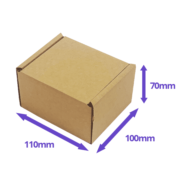Brown PiP Small Parcel Postal Box - 110x100x70mm - Packs of 10, 25 & 50