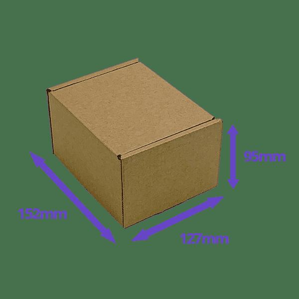 Brown PiP Small Parcel Postal Box - 152x127x95mm - Packs of 10, 25 & 50