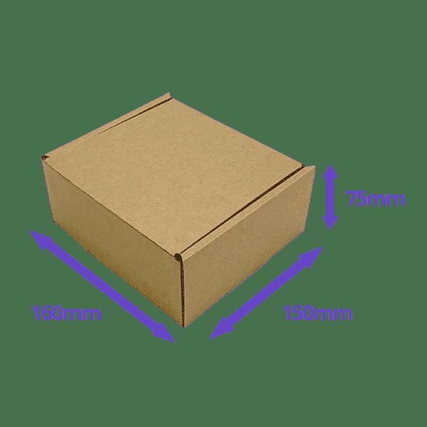 Brown PiP Small Parcel Postal Box - 160x150x75mm - Packs of 10, 25 & 50
