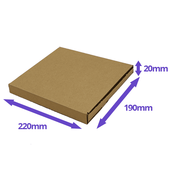 Brown PiP Large Letter Postal Box - 220x190x19mm - Packs of 10, 25 & 50
