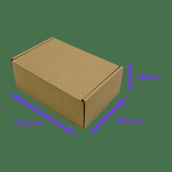 Brown PiP Small Parcel Postal Box - 222x150x88mm - Packs of 10, 25 & 50