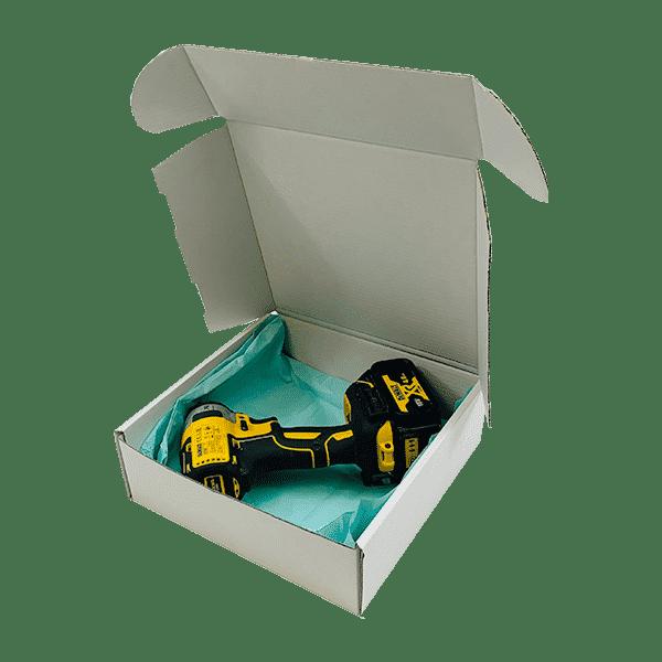 White PiP Small Parcel Postal Box - 240x240x80mm - Packs of 10, 25 & 50