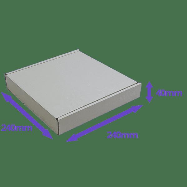 White PiP Small Parcel Postal Box - 240x240x40mm - Packs of 10, 25 & 50