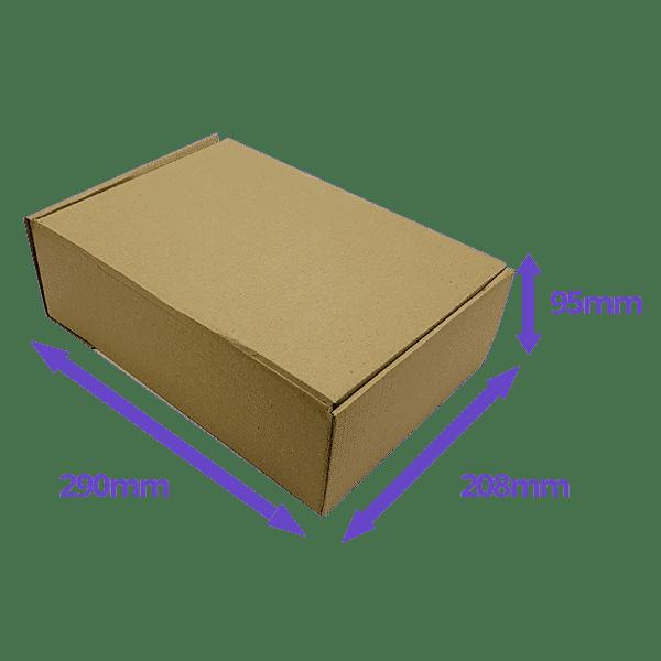 Brown PiP Small Parcel Postal Box - 290x208x95mm - Packs of 10, 25 & 50