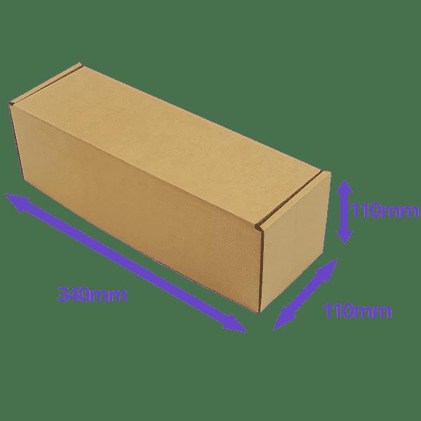 Brown PiP Small Parcel Postal Box - 340x110x110mm - Packs of 10, 25 & 50