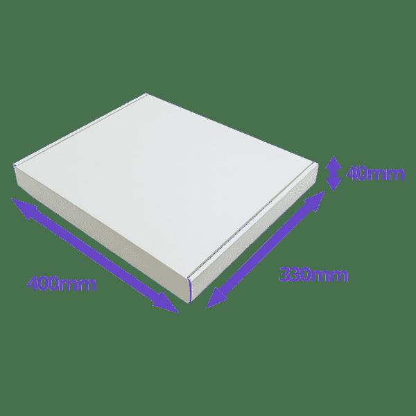 White PiP Small Parcel Postal Box - 400x330x40mm - Packs of 50