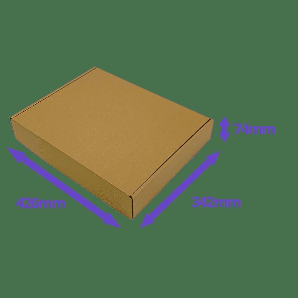 Brown PiP Small Parcel Postal Box - 426x342x74mm - Packs of 50