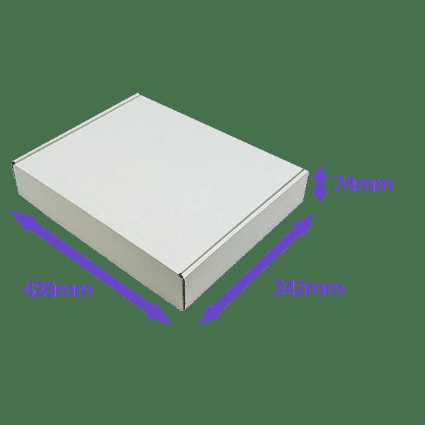 White PiP Small Parcel Postal Box - 426x342x74mm - Packs of 50