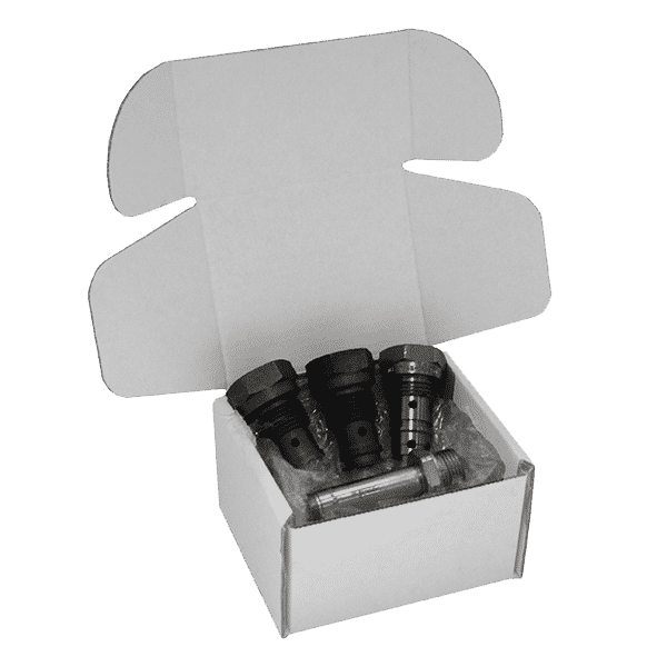 White Postal Box PiP Small Parcel - 110x100x70mm