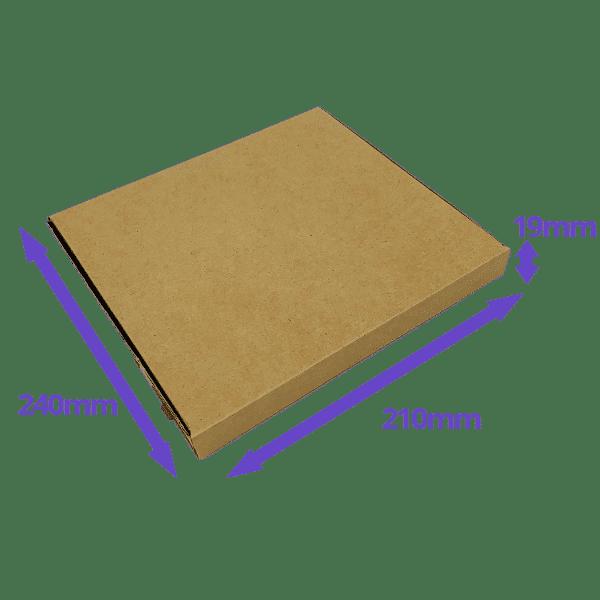 Brown PiP Large Letter Postal Box - 240x210x19mm