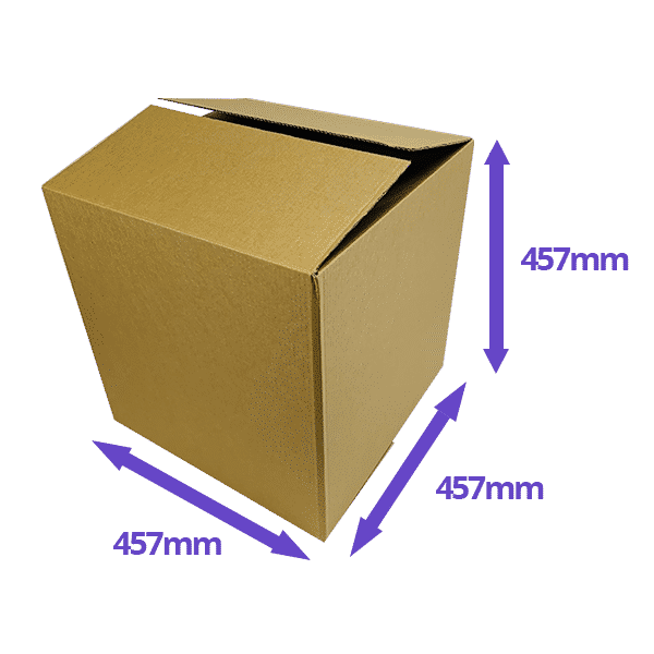 Single Wall Cardboard Boxes - 457x457x457mm - Pack Of 10, 25 & 50