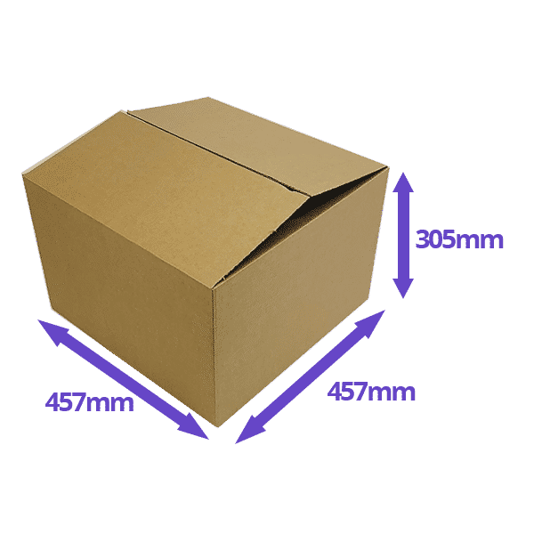 Single Wall Cardboard Boxes - 457x457x305mm - Pack Of 10, 25 & 50