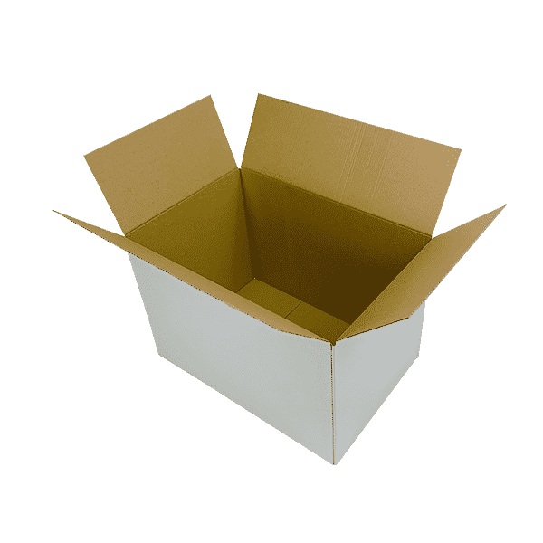 White Single Wall Cardboard Boxes - 457x305x305mm - Pack Of 10, 25 & 50