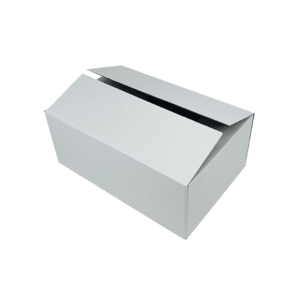 White Single Wall Cardboard Boxes - 525x350x210mm