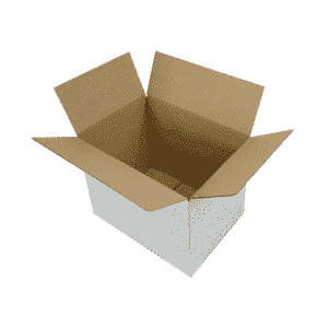 White Single Wall Cardboard Boxes - 366x266x279mm - Pack Of 10, 25 & 50