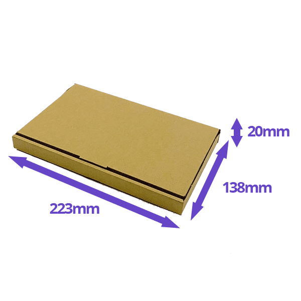 Brown PiP Large Letter Postal Box - 223x138x20mm - Packs of 10, 25 & 50