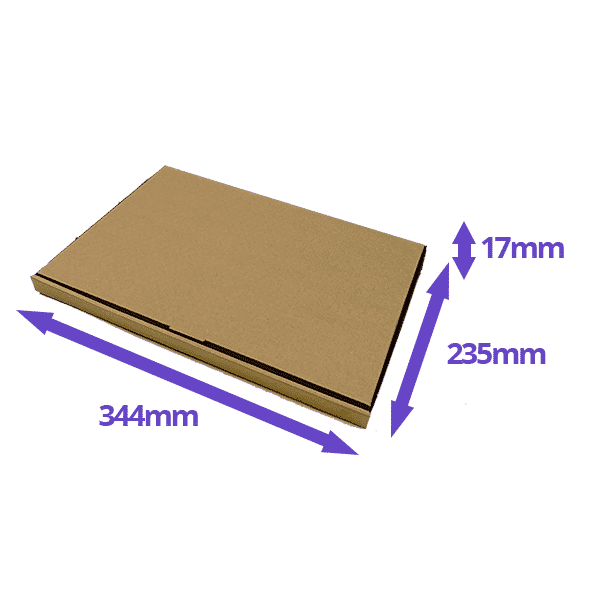 Brown PiP Large Letter Postal Box - 344x235x20mm - Packs of 10, 25 & 50