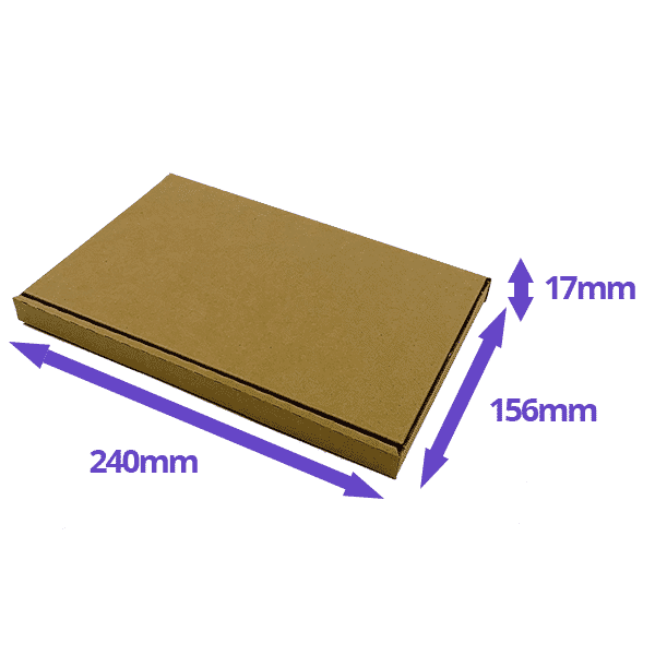 Brown PiP Large Letter Postal Box - 240x156x17mm - Packs of 10, 25 & 50