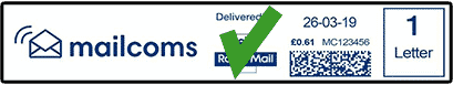 Correct Short Franking Machine Label With Return Address