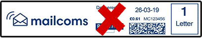 Incorrect Short Franking Machine Label With Return Address