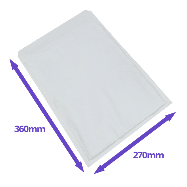 AirPro Bubble Lined Envelopes - Size H/8 - 270x360mm - Pack Of 100 - Available In White