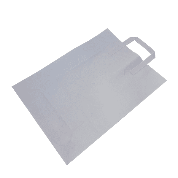 Extra Large White Tape Handle Paper Carrier Bags - 305x127x406mm