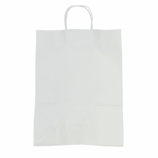 White Twist Handle Paper Carrier Bags - 320x140x420mm