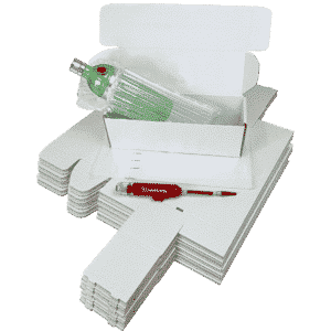 Single Bottle Air Packaging Kit - Includes Air Cushioning Bags, White Postal Boxes & Hand Pump